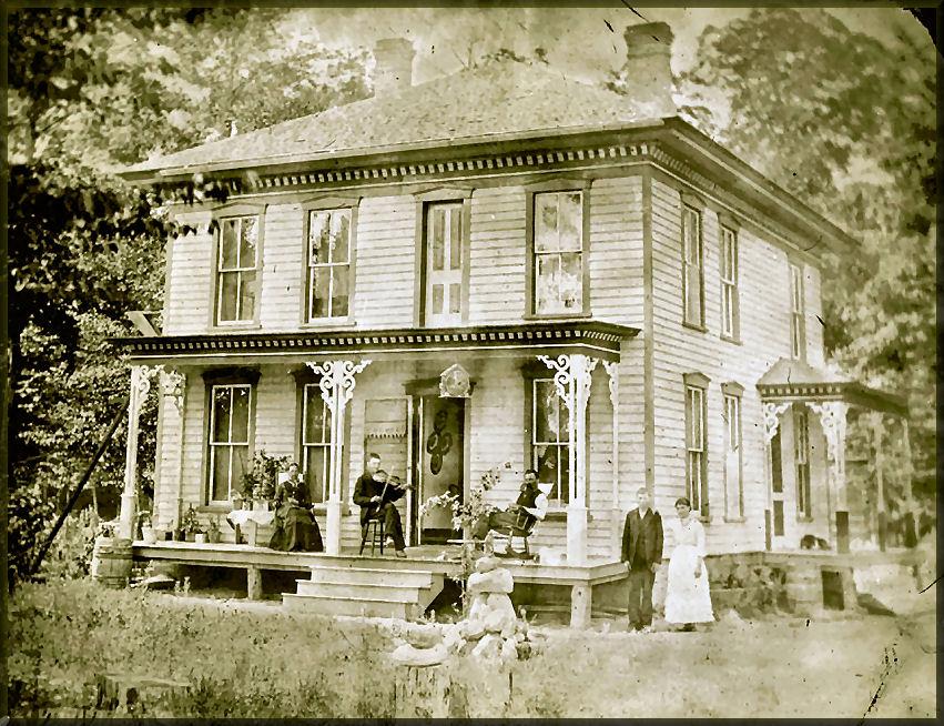 William Harley home in Ludington, MI; courtesy of Barbara Luck